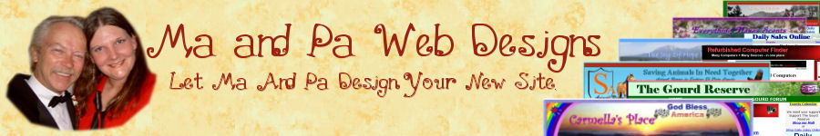 Ma and Pa Web Designs Banner